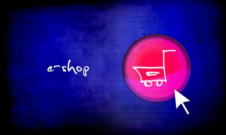 eshop: web button - e-shop Stock Photo
