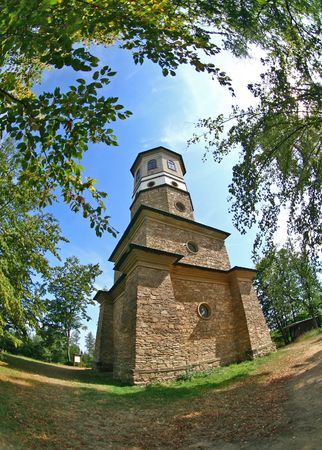 babylon: Babylon view tower in czech republic Stock Photo