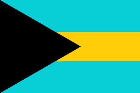 bahamas: national flag of Bahamas Stock Photo