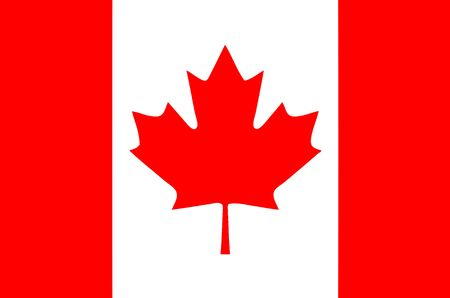 national flag of Canada Stock Photo