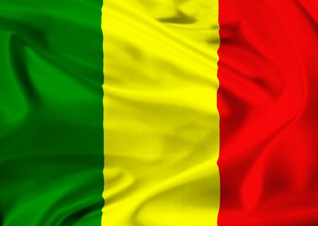 mali: national flag of Mali
