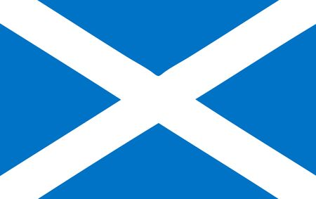 national flag of Scotland Stock Photo