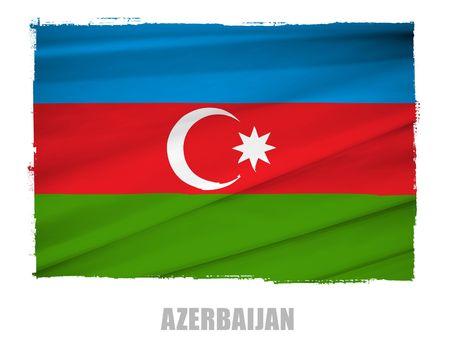 azerbaijan: national flag of azerbaijan
