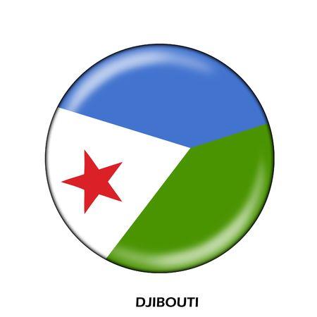 djibouti: national flag of djibouti Stock Photo