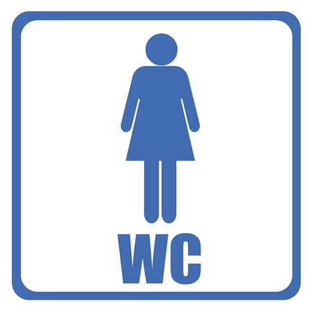 toilet sign - men Stock Photo