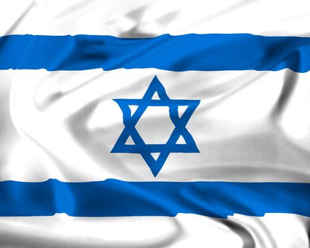 national flag of israel waving in the wind
