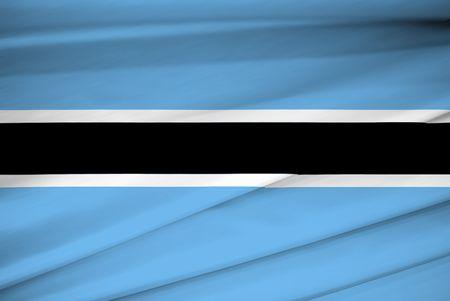 botswana: national flag of botswana Stock Photo