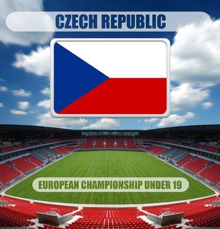 european championship: european championship under 19 - czech republic Stock Photo