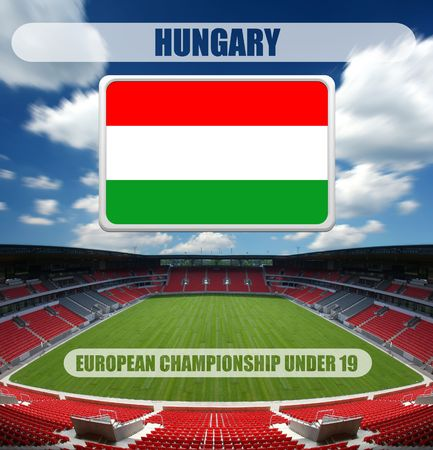 european championship: european championship under 19 - hungary Stock Photo