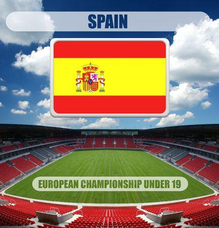 european championship: european championship under 19 - spain Stock Photo