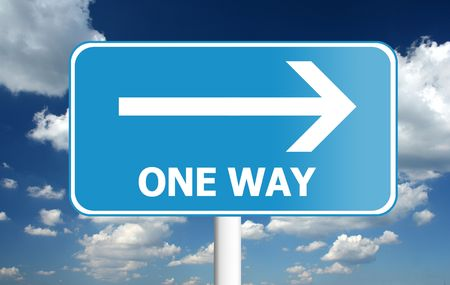 one way: one way traffic sign