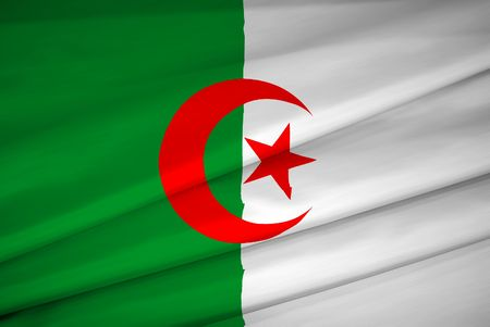 national flag of algeria waving in the wind Stock Photo - 3313379