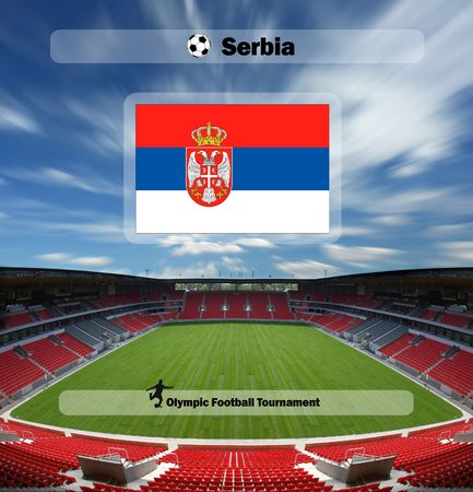 olympic games 2008 - football tournament - team of Serbia Stock Photo - 3350552