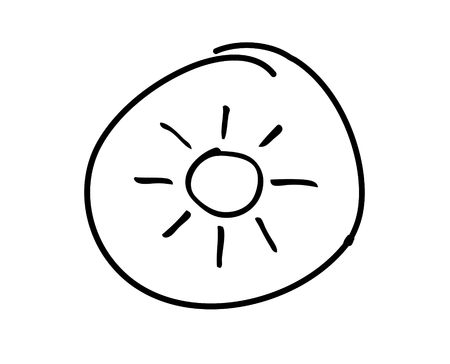 web button with hand drawn symbol photo