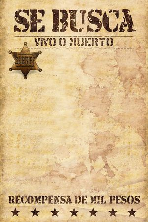 wild west poster with spanish words