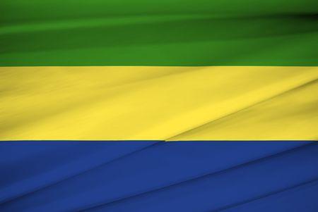 national flag of Gabon Stock Photo - 3448483