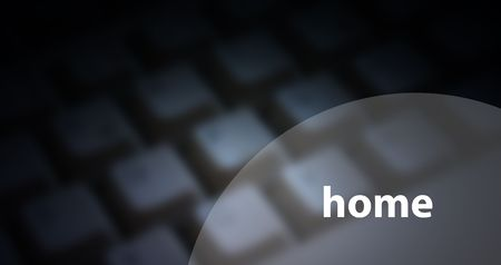 home - concept with computer keyboard photo