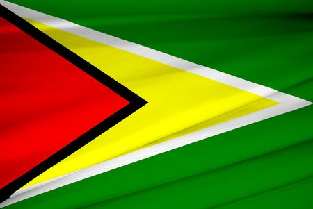national flag of guyana waving in the wind photo