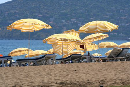 turkiye: beach in alanya city Stock Photo