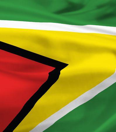 national flag of guyana waving in the wind photo