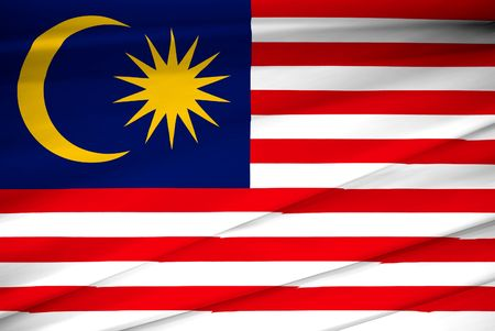 national flag of malaysia Stock Photo