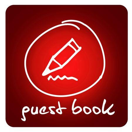 web button - guest book