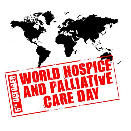 palliative: 6th october - world hospice and palliative care day Stock Photo