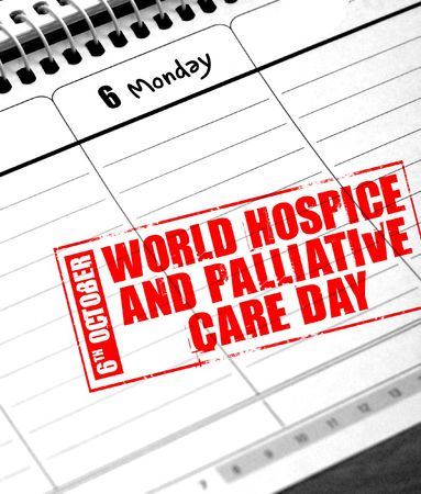 hospice: 6th october - world hospice and palliative care day Stock Photo