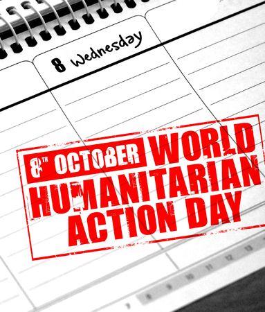 humanitarian: 8th october - world humanitarian action day