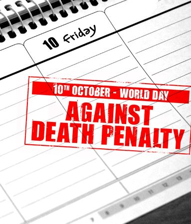 penalty: october 10 - world day against death penalty Stock Photo