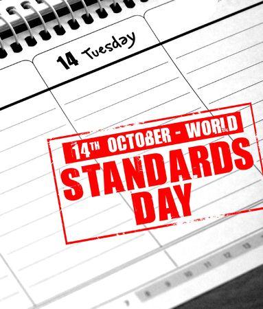 standards: october 14 - world standards day Stock Photo