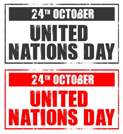 observance: october 24 - united nations day Stock Photo