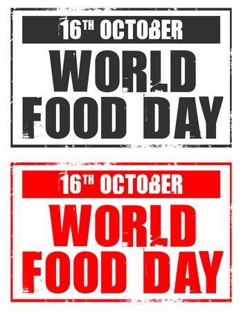16 de octubre - Día Mundial de la Alimentación Foto de archivo - 3738610