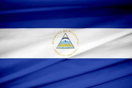bandera nacional de Nicaragua Foto de archivo - 3738581