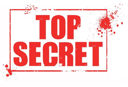 top secret rubber stamp Stock Photo