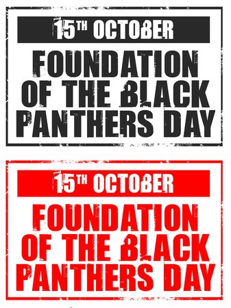 foundation: october 15 - foundation of the black panther Stock Photo