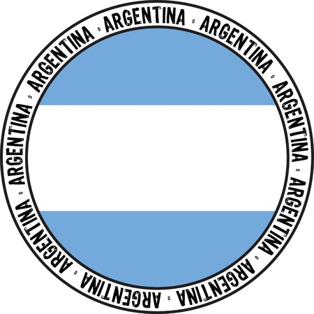 national flag of argentina designed as rubber stamp Vector