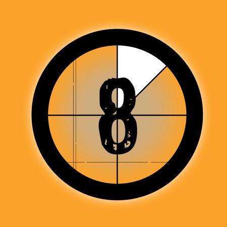 countdown - 8 Stock Photo - 4564241