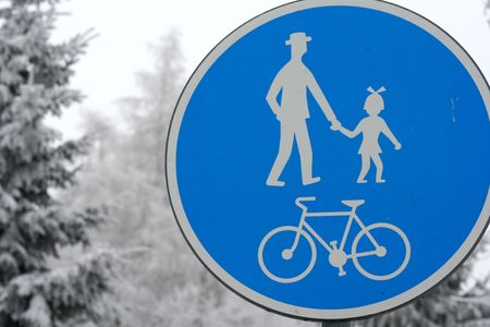 cycleway: cycleway Stock Photo