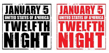 twelfth night: january 5 - usa - twelfth night Stock Photo