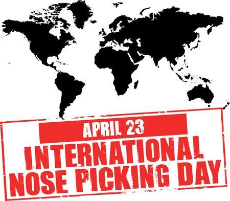 nose picking: april 23 - nose picking day Stock Photo