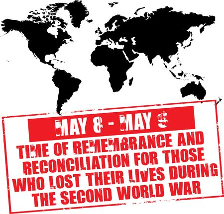 may 8-9 - time of remembrance for those who lose their lives during the second world war Stock Photo - 4803012