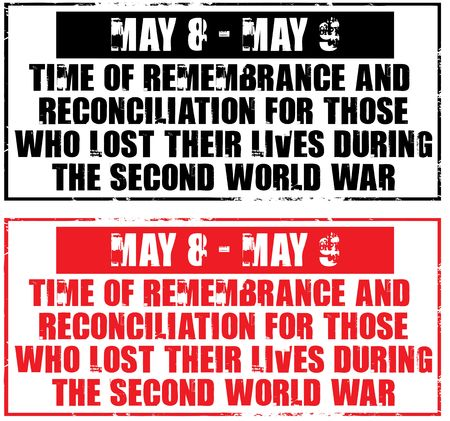 those: may 8-9 - time of remembrance for those who lose their lives during the second world war Stock Photo