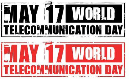 may 17 - world telecommunication day Stock Photo - 4830196