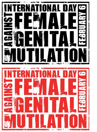 genital: february 6 - day against female genital mutilation Stock Photo
