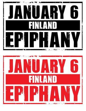 epiphany: january 6 - finland - epiphany  Stock Photo