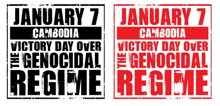 regime: january 7 - cambodia - victory day over the genocidal regime Stock Photo