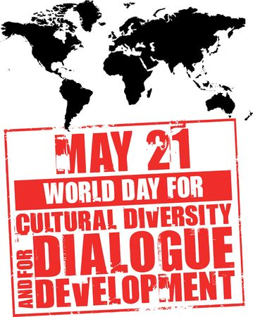diversidad cultural: 21 de mayo - d�a de la diversidad cultural Foto de archivo