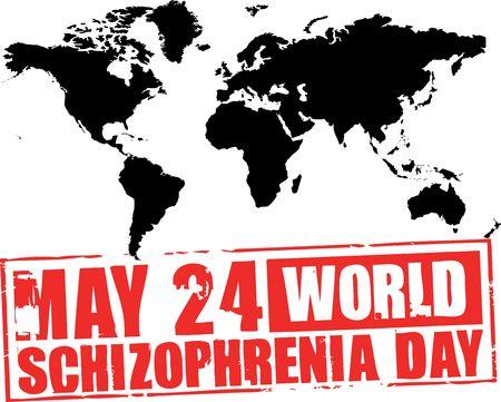 24 de mayo - D�a de la esquizofrenia mundo Foto de archivo - 4925038