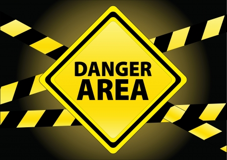 danger warning sign: danger area Illustration